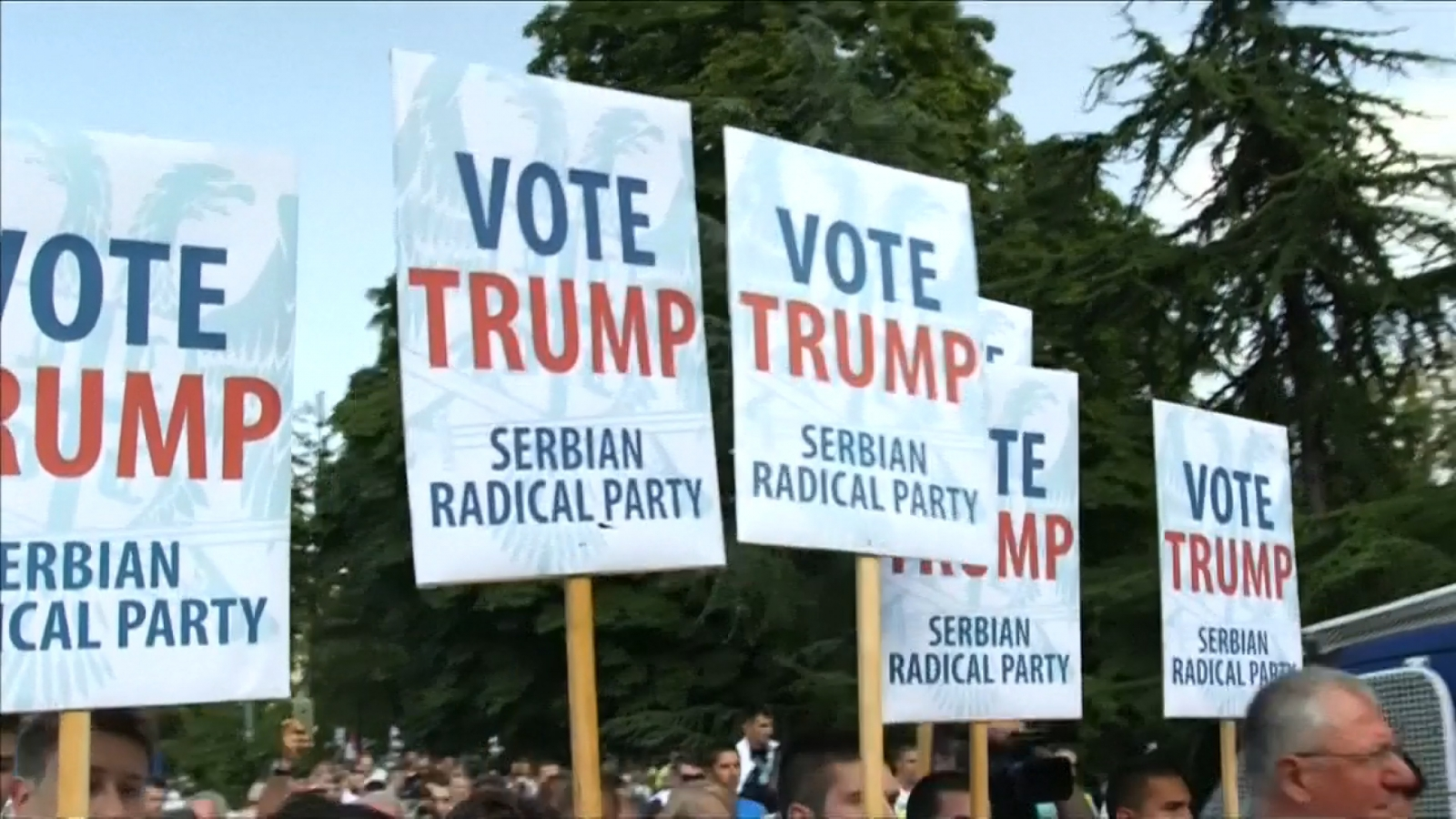 Serbia: Radical Party hold pro-Donald Trump rally as US Vice President Joe Biden visits Belgrade