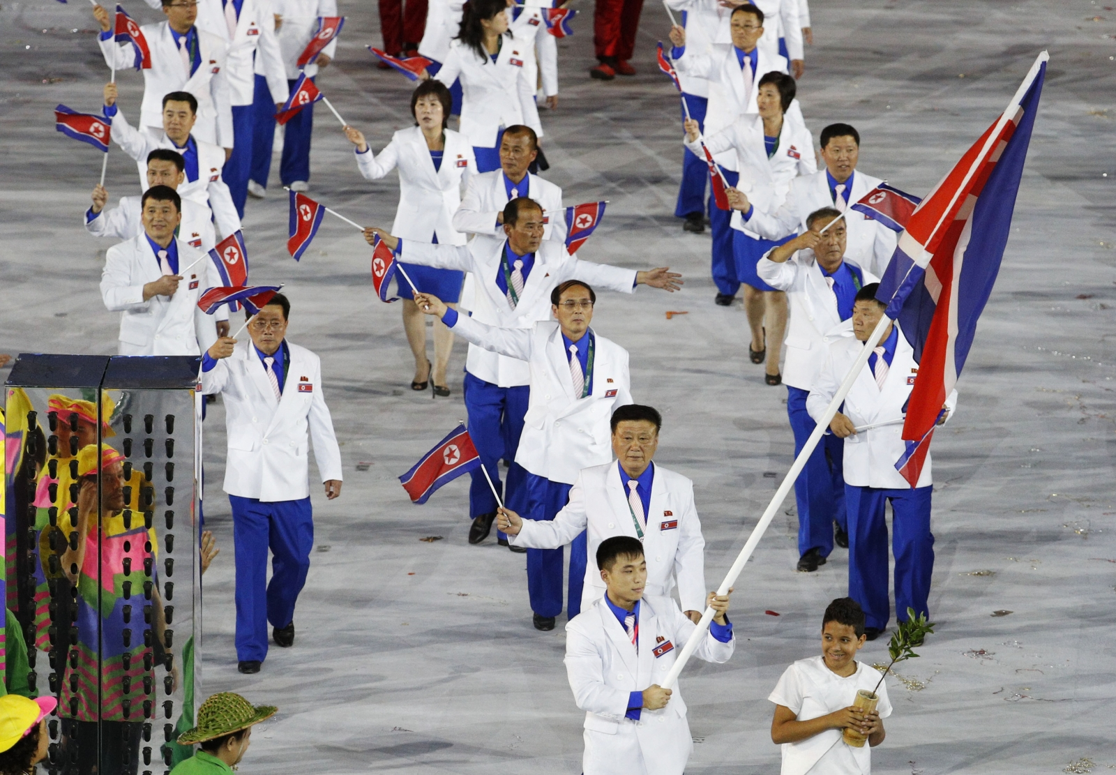 North Korean athletes at Rio 2016 Olympics