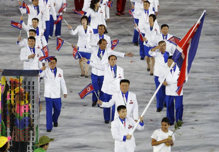 North Korean athletes at Rio 2016 Olympics
