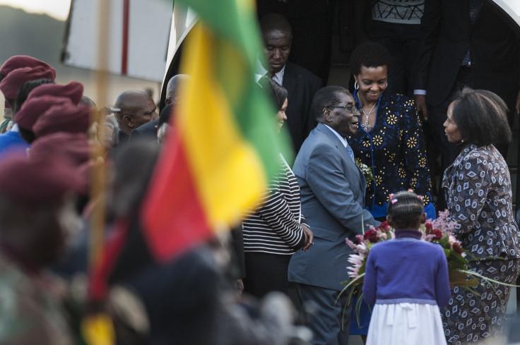 Robert Mugabe in South Africa