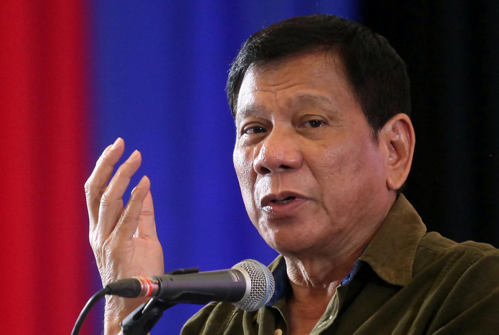 Philippines President Rodrigo Duterte