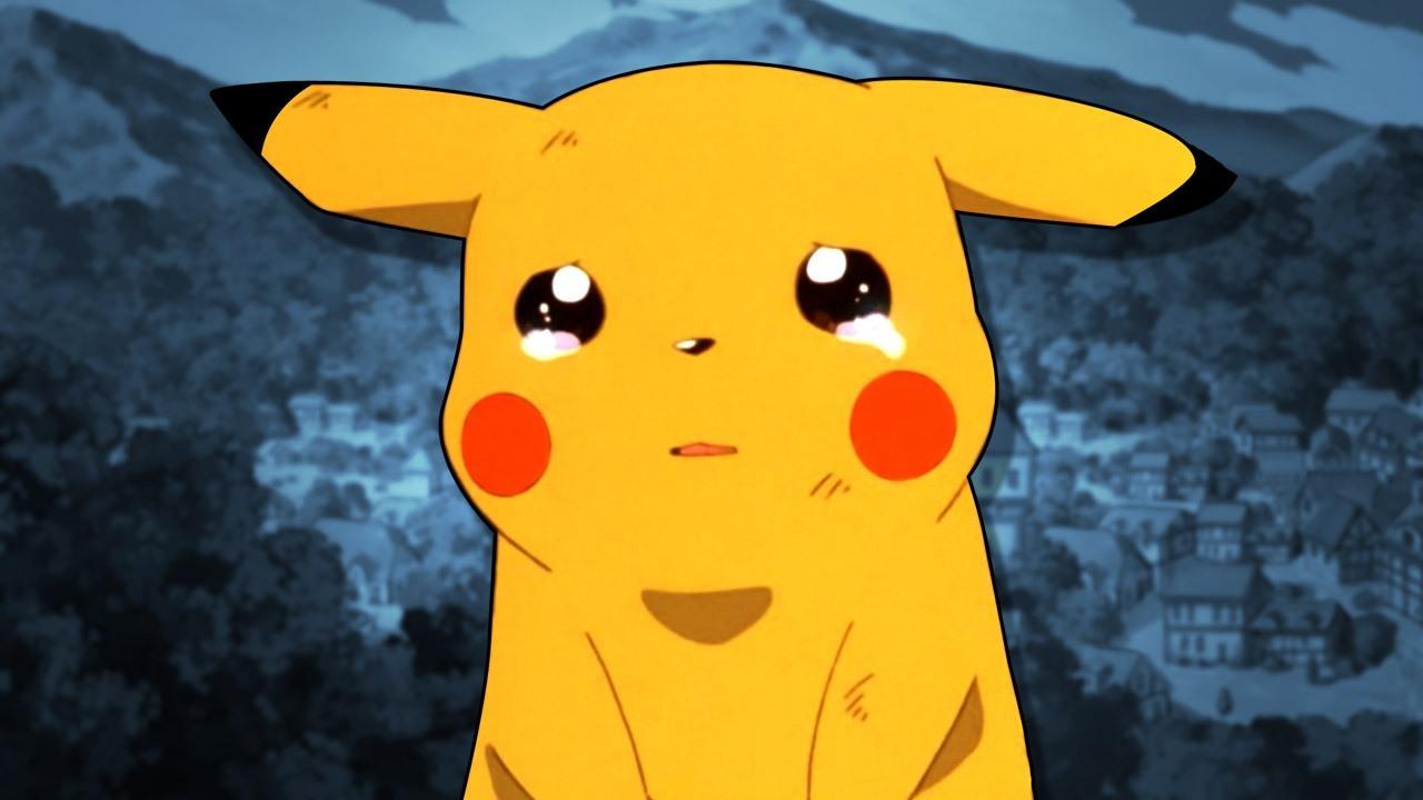 Pokemon anime pikachu sad