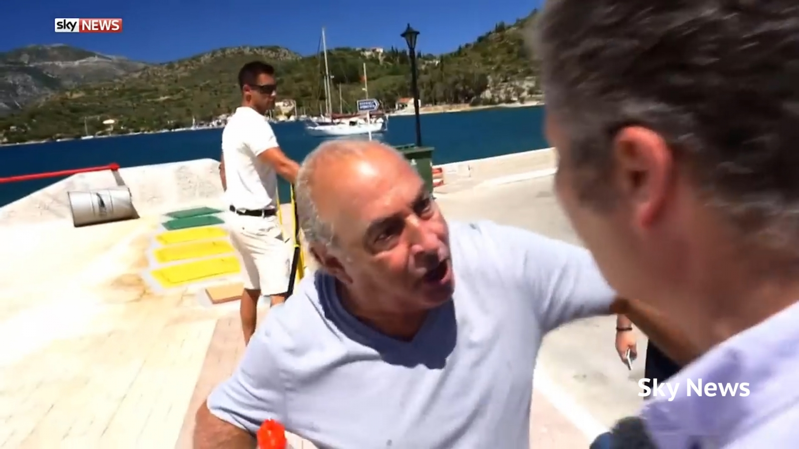 Philip Green confronted by Sky News journalist