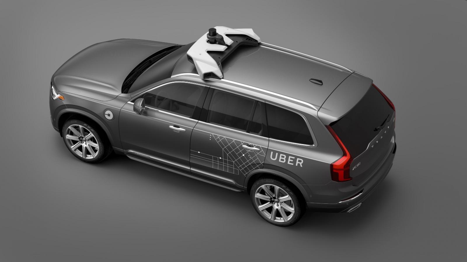 Uber autonomous Volvo XC90