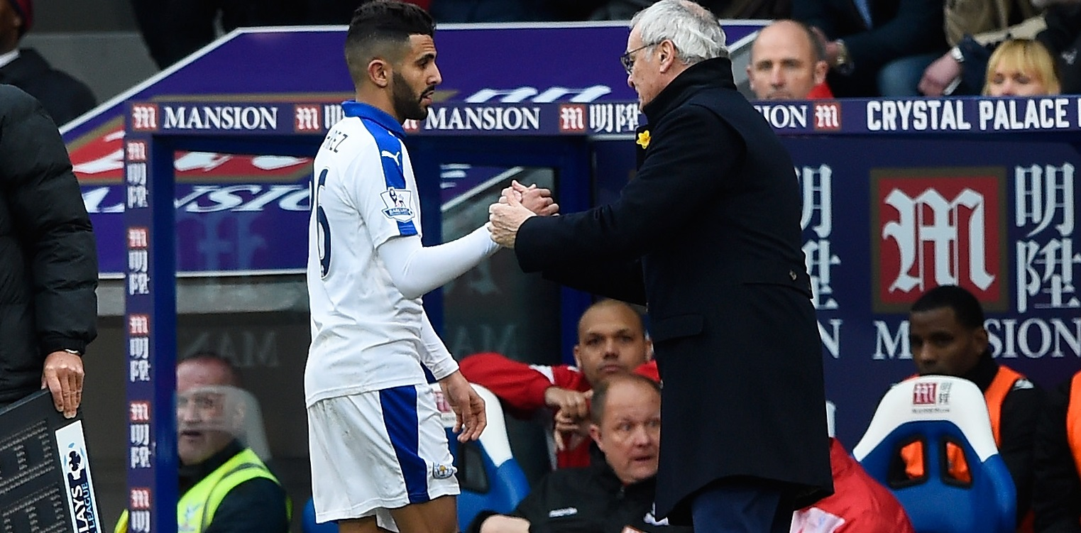 Riyad Mahrez and Claudio Ranieri