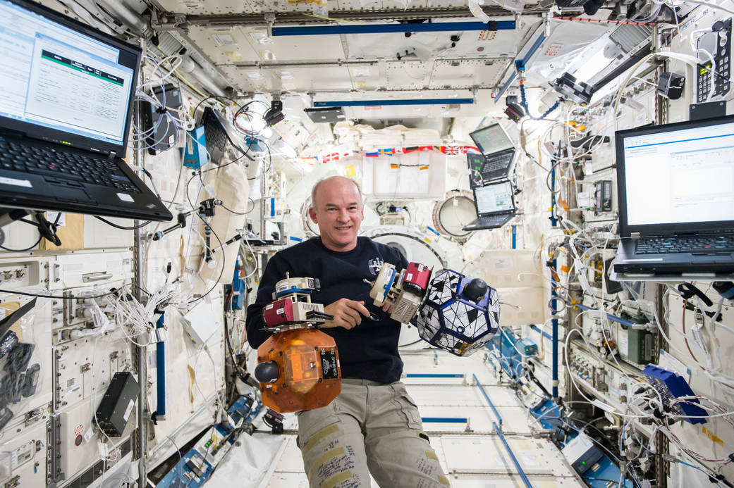 Expedition 48 Commander Jeff Williams in space