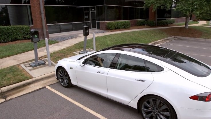 Tesla Model S wireless charger