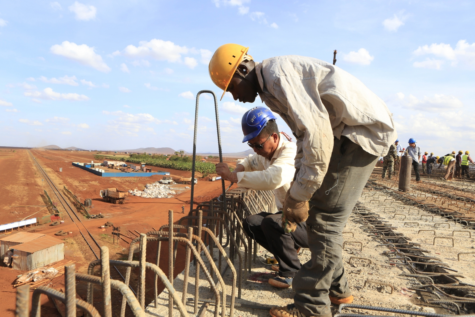 Chinese workers in Kenya