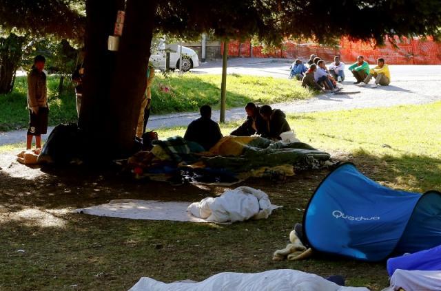Migrants in Como city