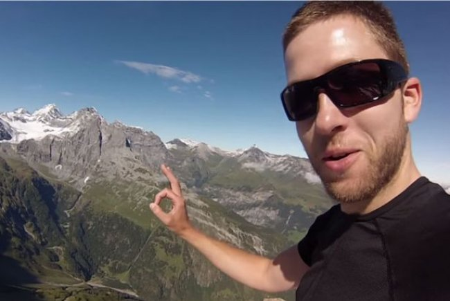 Base jumper Uli Emanuele tragically films his own death