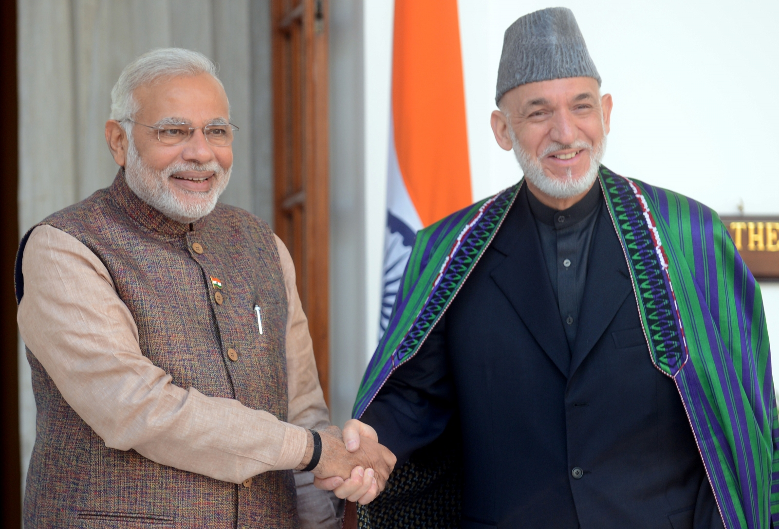Indian PM and Afghan former president