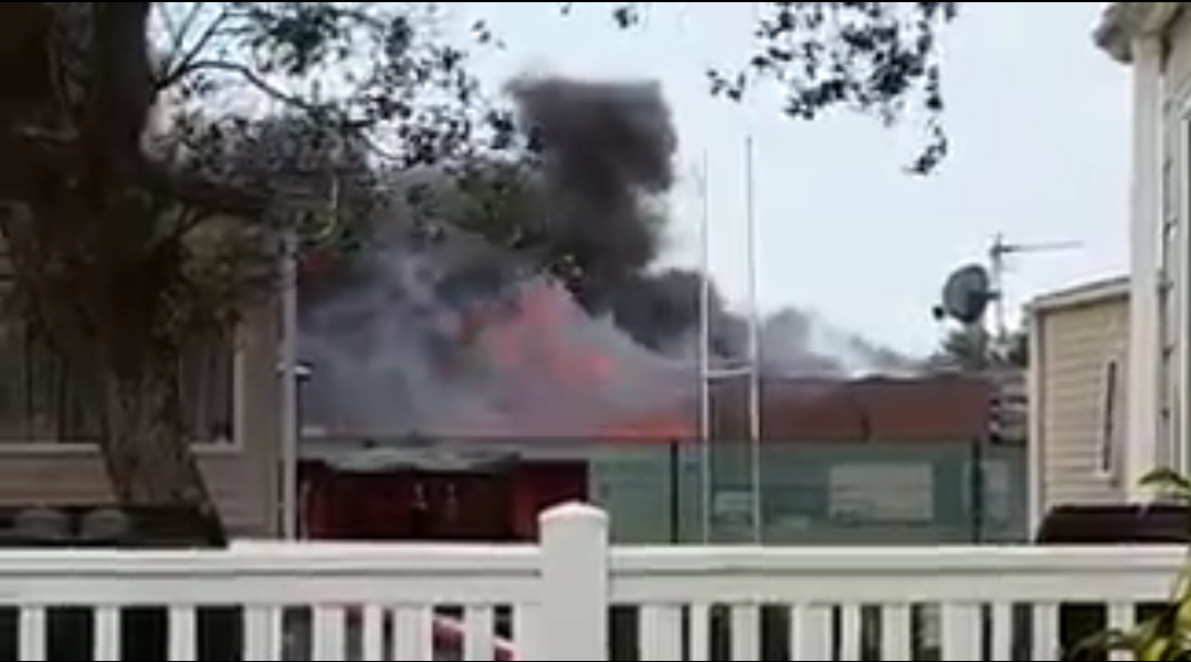 Fire rages at Selsey School