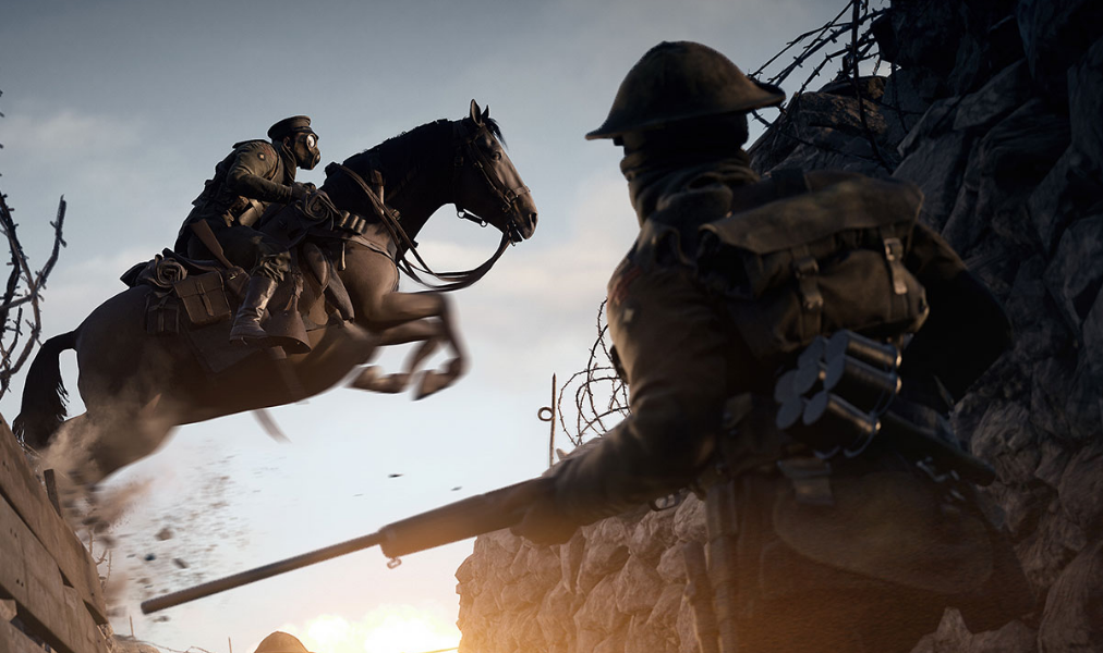 Battlefield 1 horse trench
