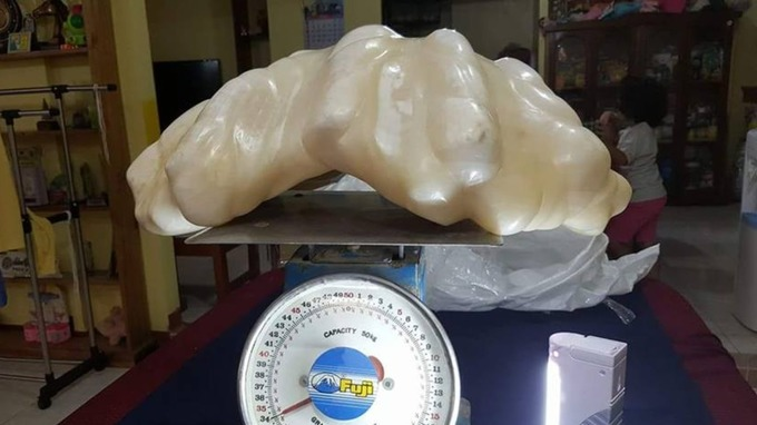 This giant pearl was found ten years ago in the waters of the coast of Palawan Island