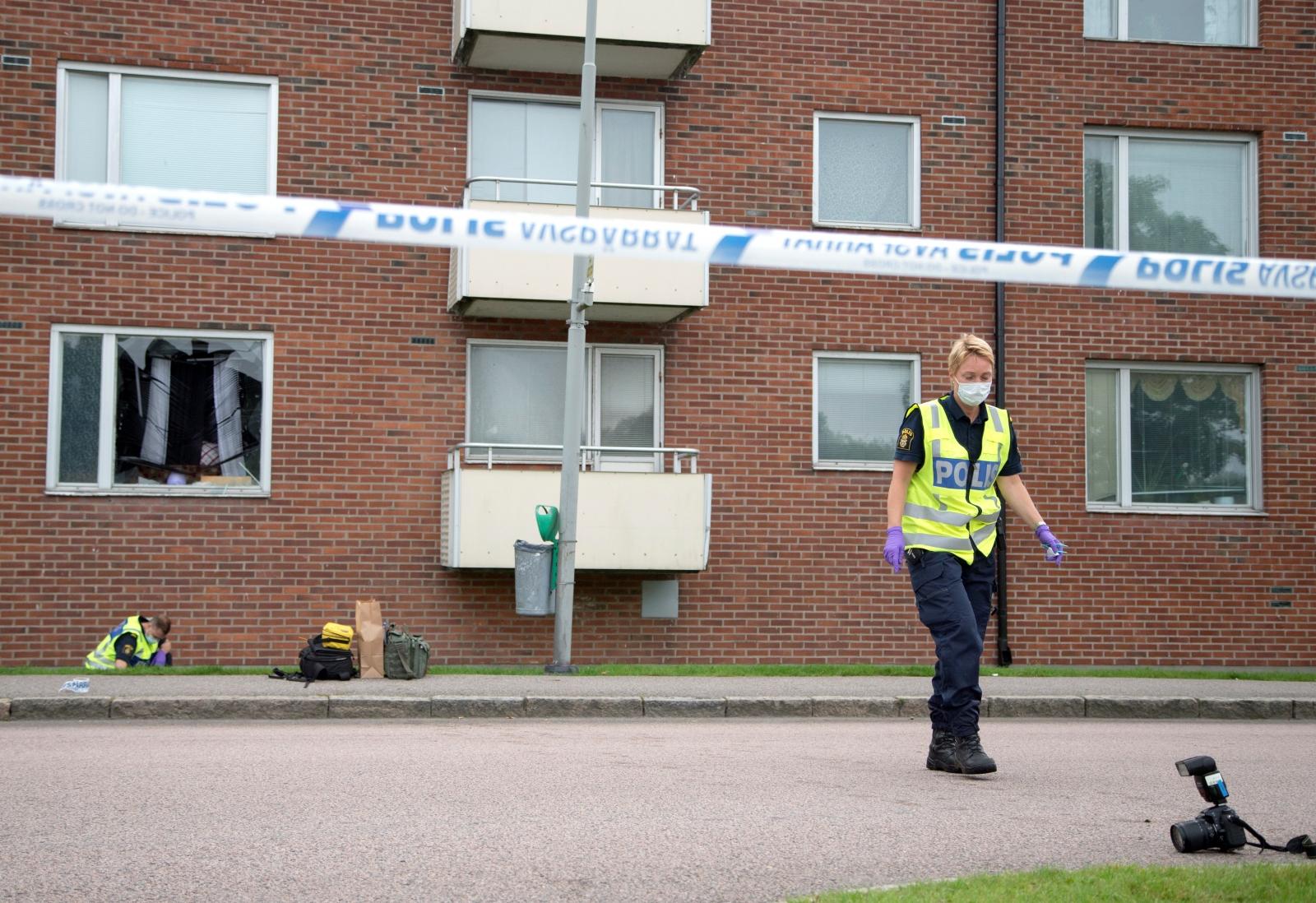 Sweden grenade attack