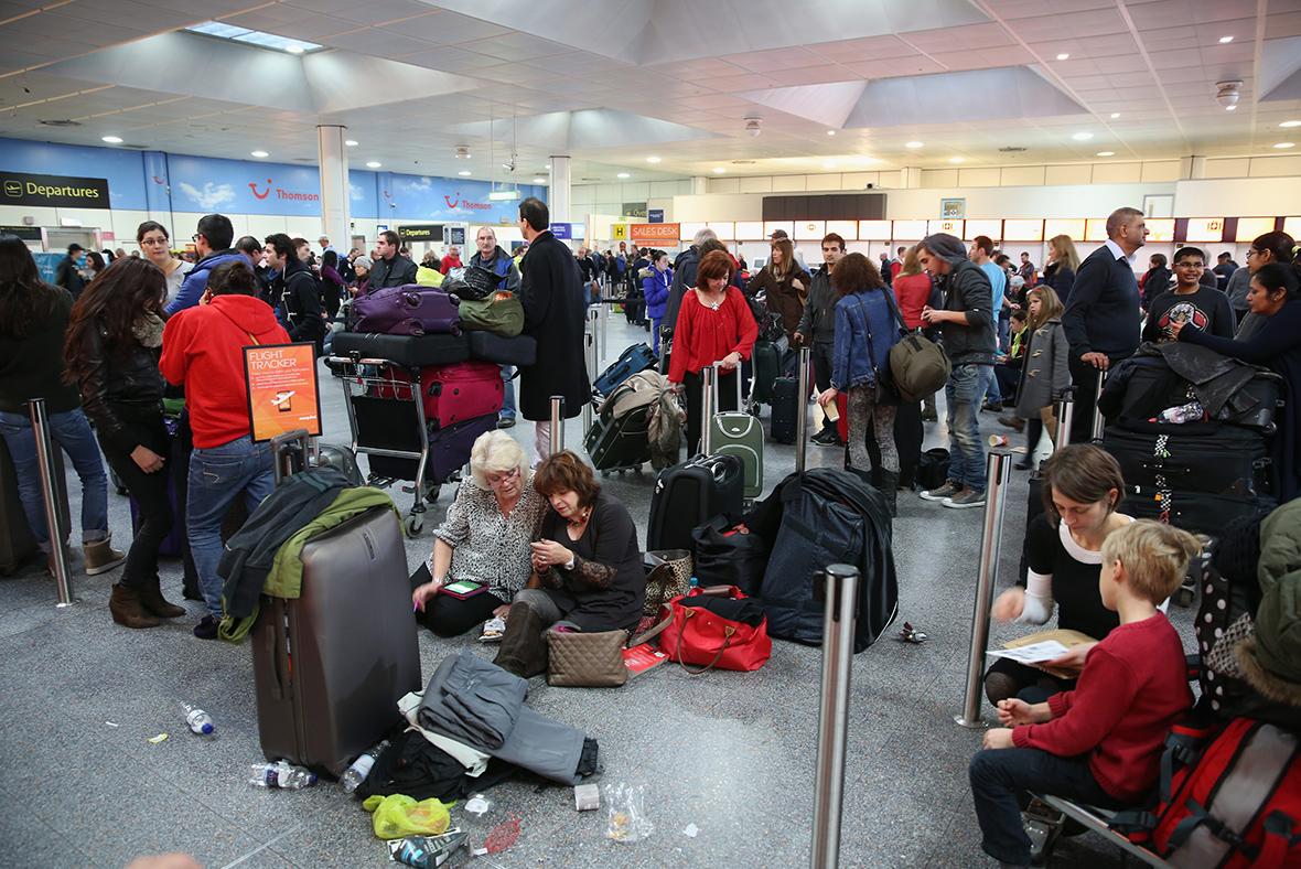 Delayed passengers