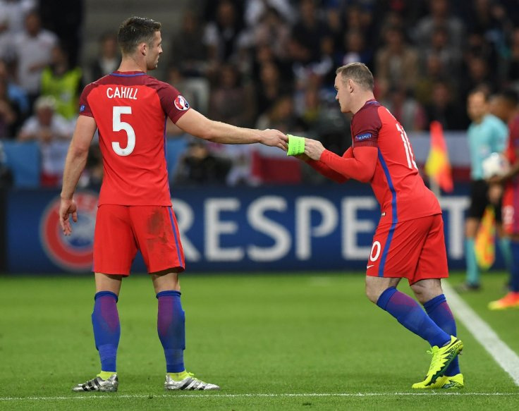 Gary Cahill and Wayne Rooney