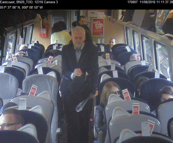 Jeremy Corbyn Virgin Trains