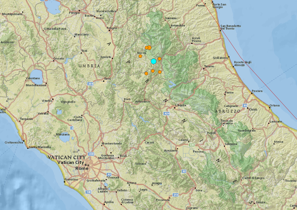 Italy Earthquake Amatrice 24 August
