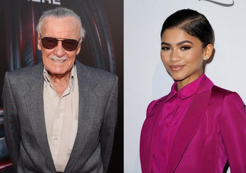 Stan Lee and Zendaya
