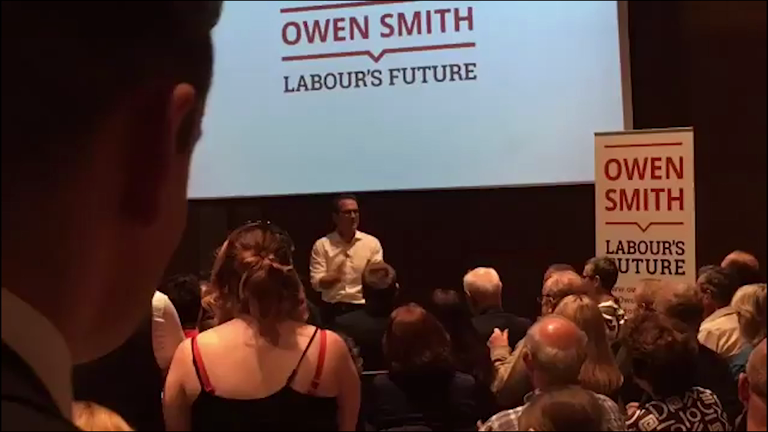 Owen Smith criticised for mental health slur after calling Jeremy Corbyn a 'lunatic'