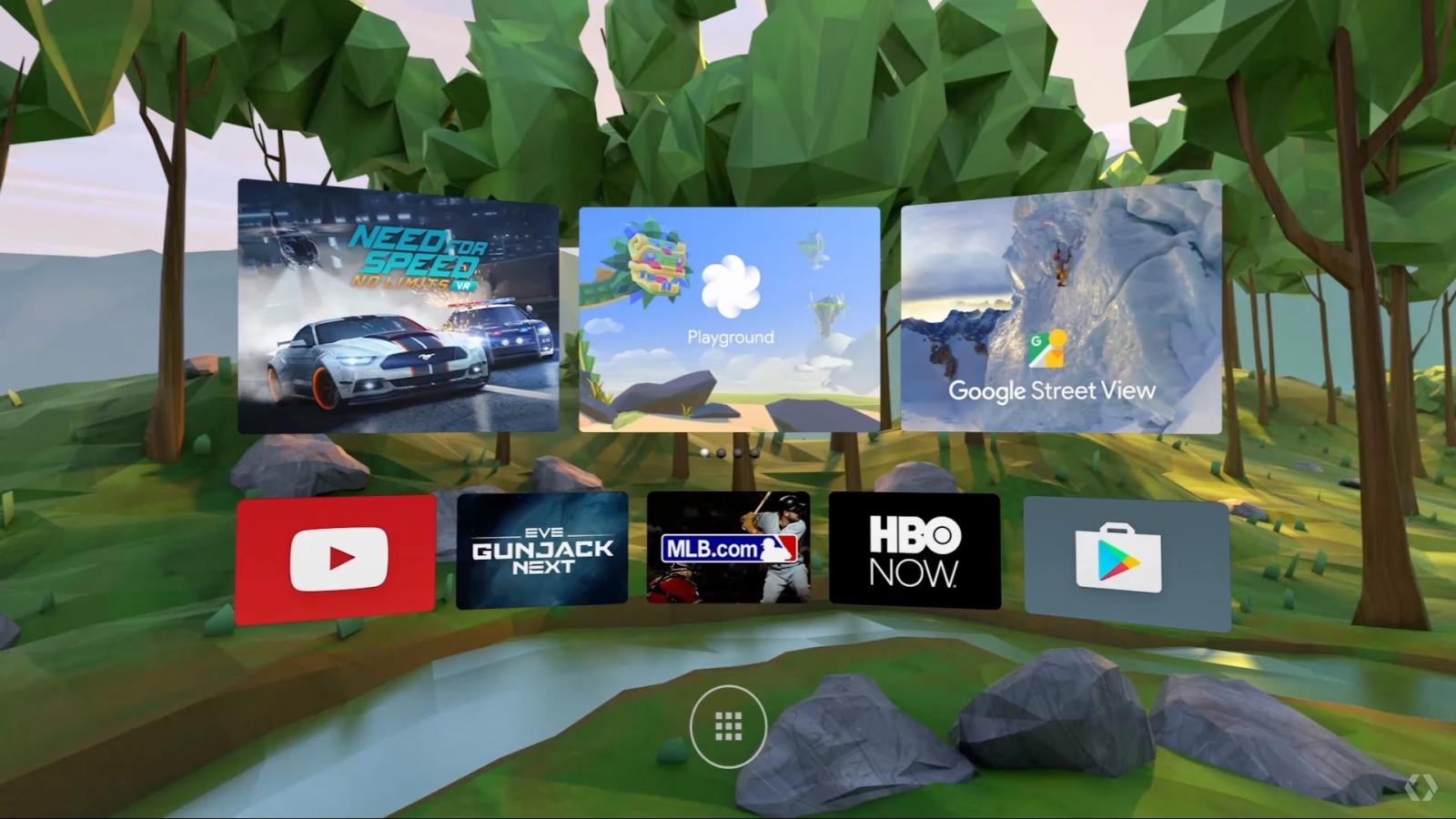 Daydream VR interface