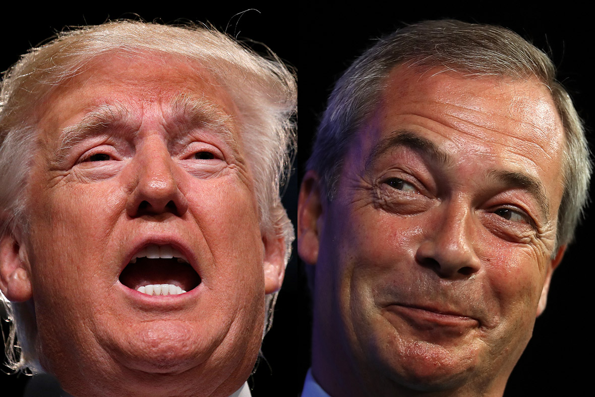 Image result for Pictures of Donald Trump & Farage