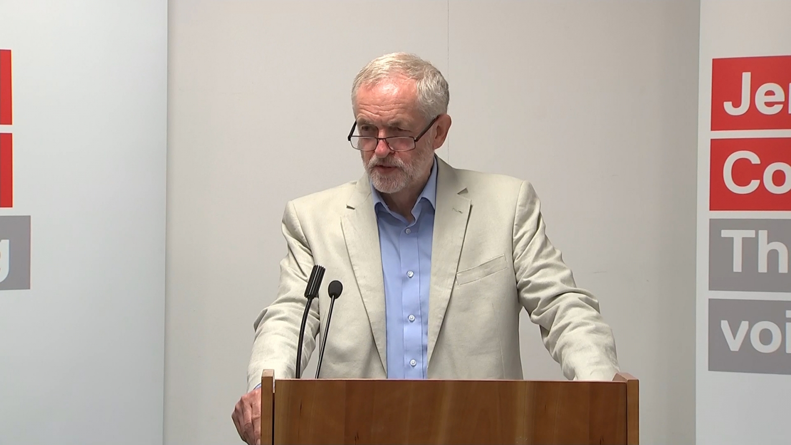 Jeremy Corbyn annoyed by train questions