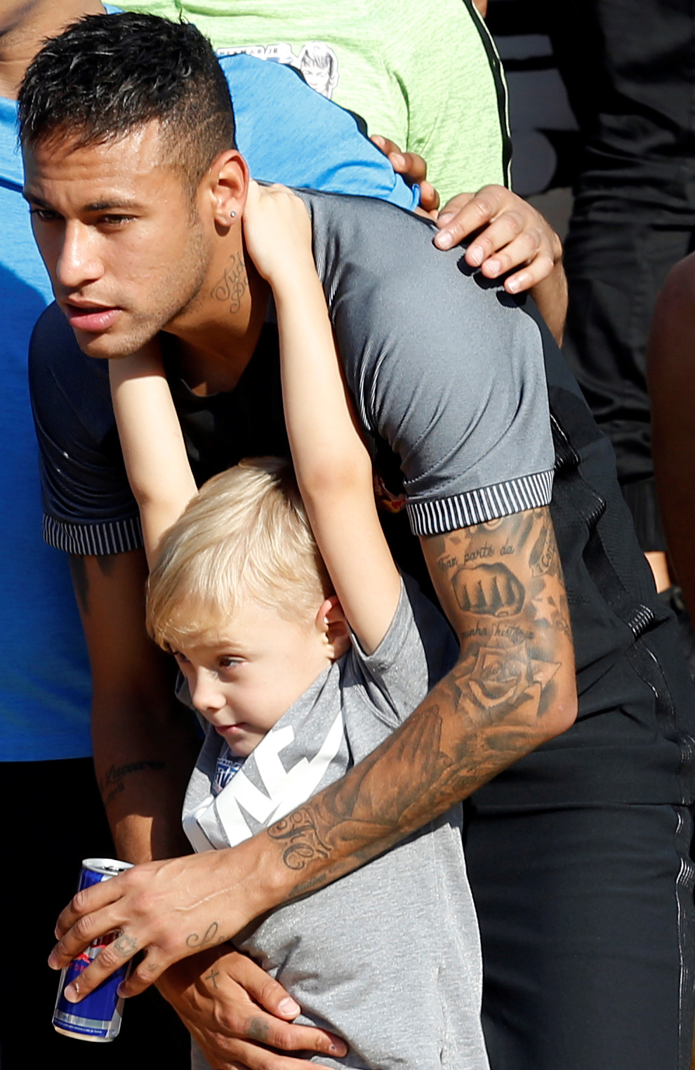 Neymar and son David Lucca