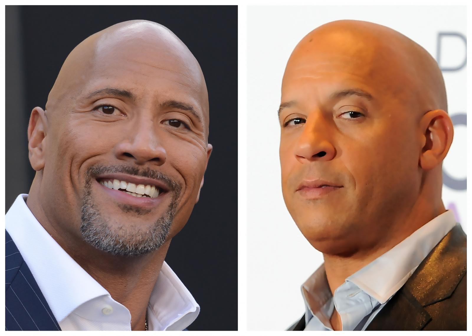 Dwayne Johnson and Vin Diesel
