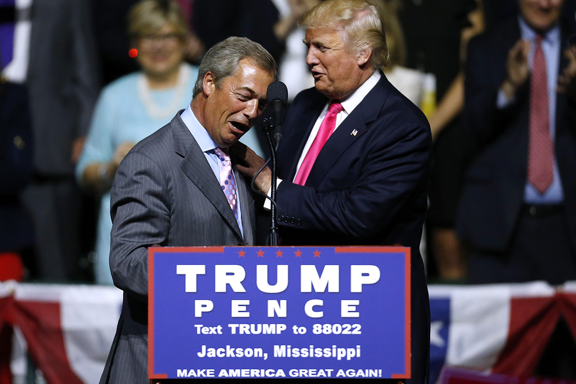 Nigel Farage: 'I now strongly think Trump will win'