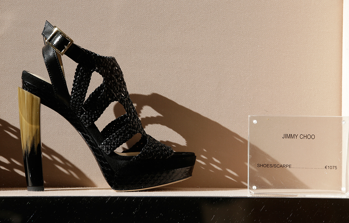 Jimmy Choo's stock is spiking. Here's why