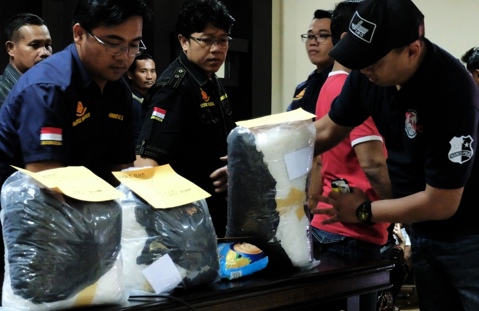 crystal meth seized in indonesia