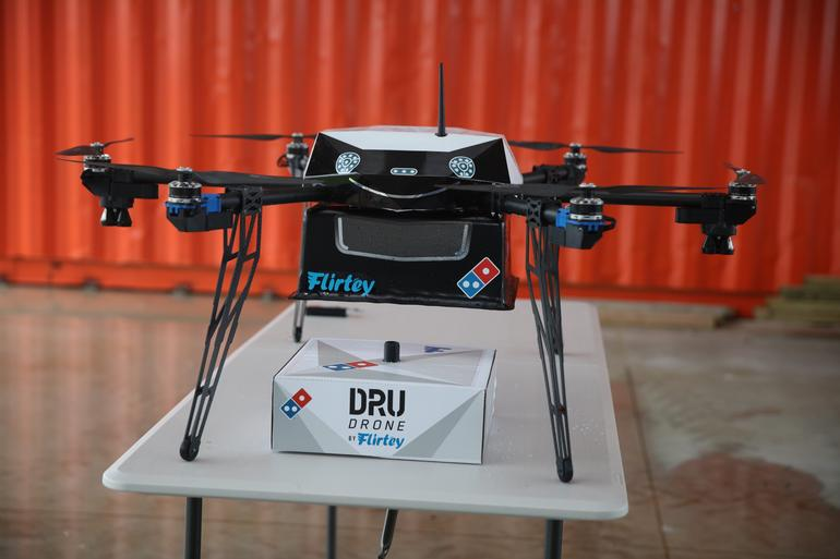 Domino's pizza delivery drone