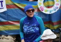 Burkini ban protest