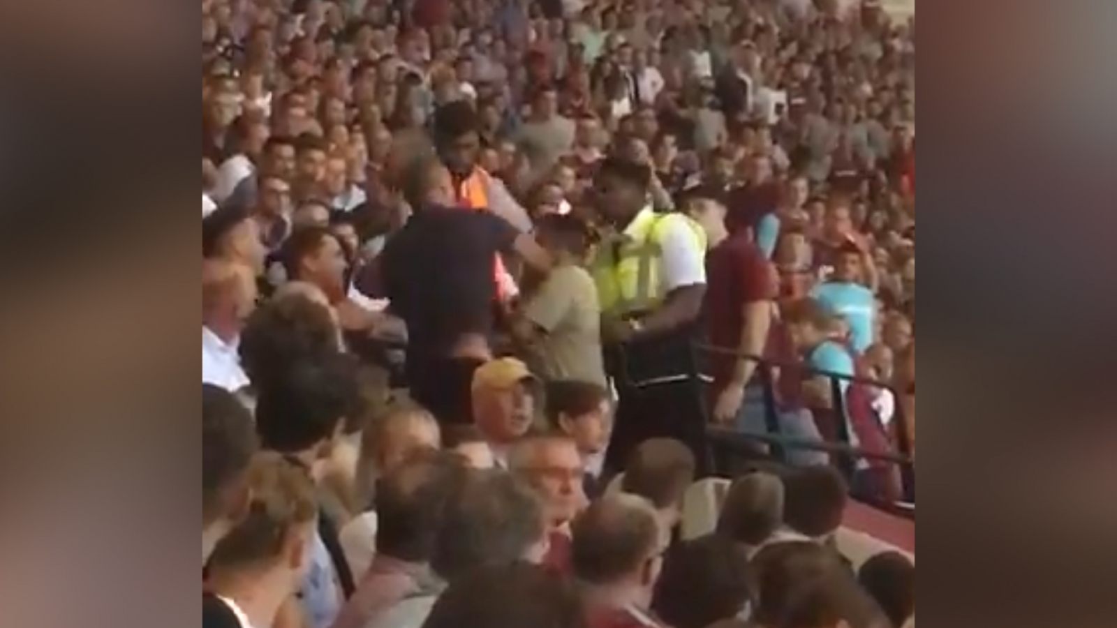 West Ham fans fighting
