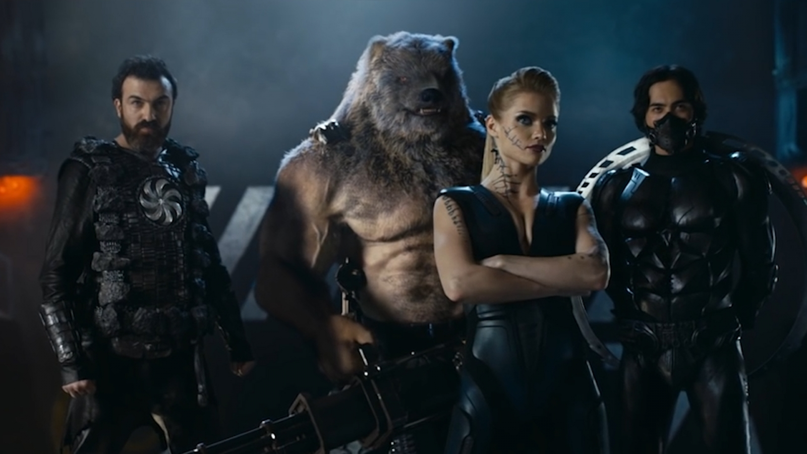 Russian superhero movie featuring machine-gun-wielding bear strongly resembles Marvel's Avengers