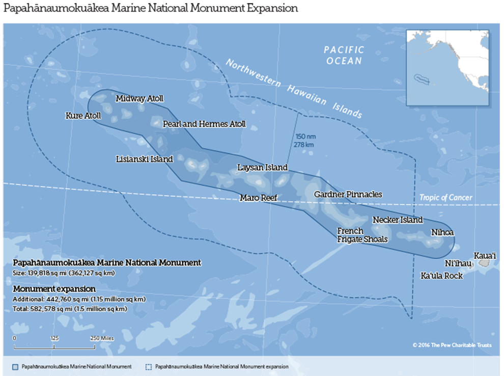 Papahānaumokuākea map