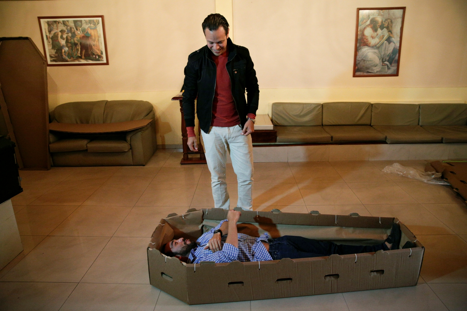 Venezuela cardboard coffins