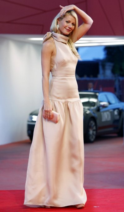 Actress Paltrow poses for photographers as she arrives on the quotContagionquot red carpet at the 68th Venice Film Festival