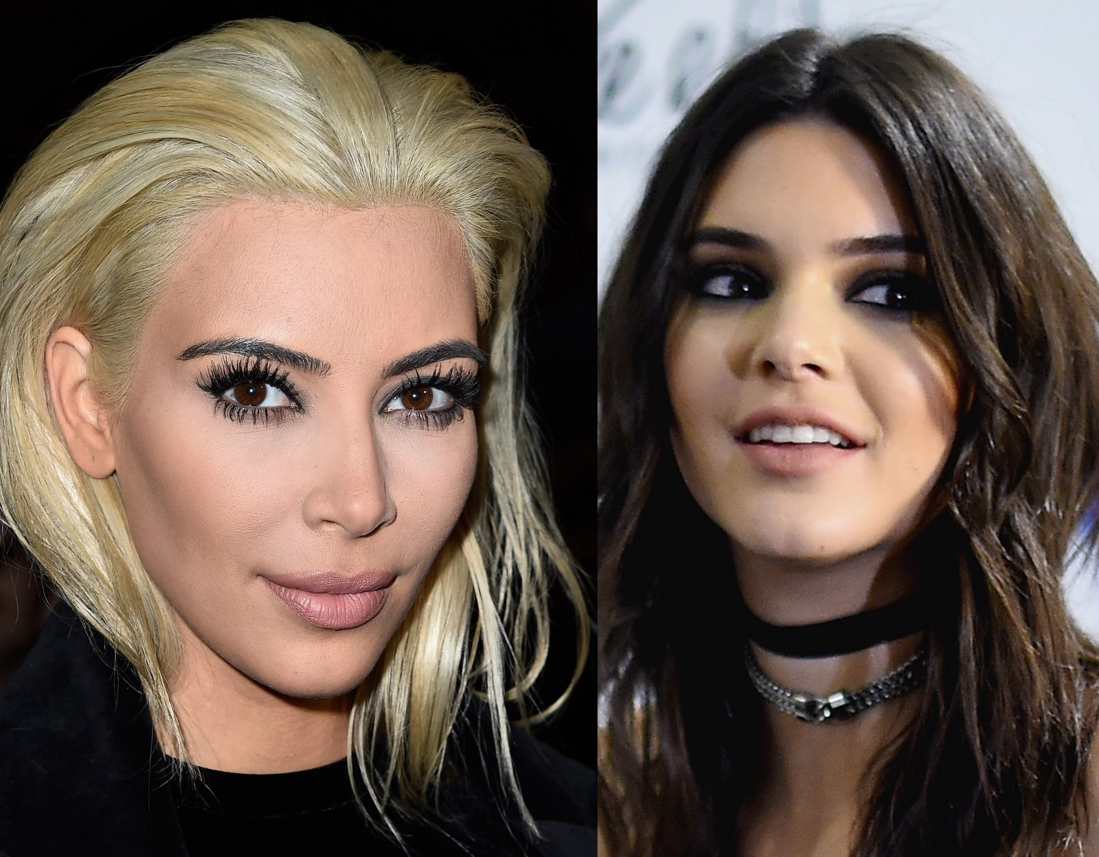 Blonde Kim Kardashian and Kendall Jenner