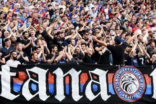 Palace fans at Selhurst Park