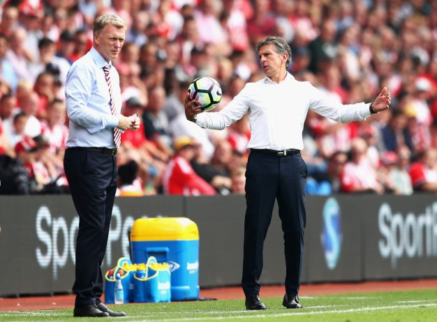 David Moyes and Claude Puel