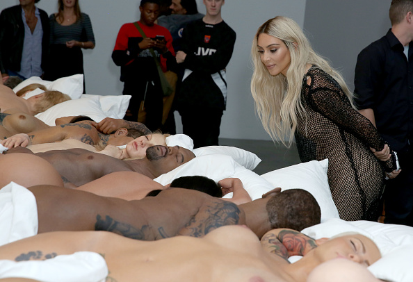 Kim Kardashian Attends Unveiling Of Kanye Wests Famous -5137