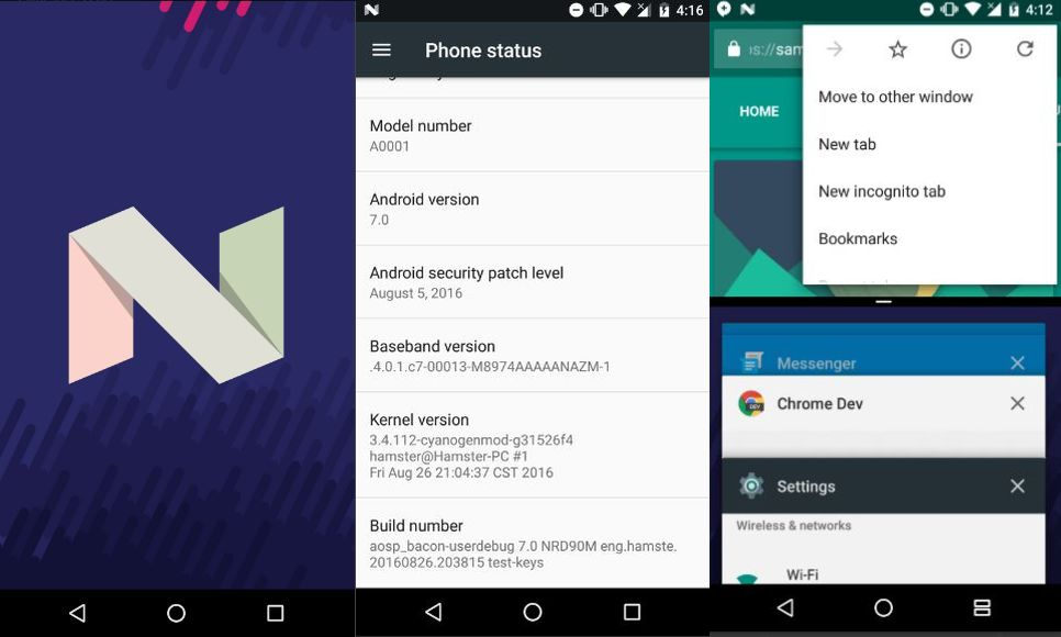 Android Nougat AOSP ROM for OnePlus One