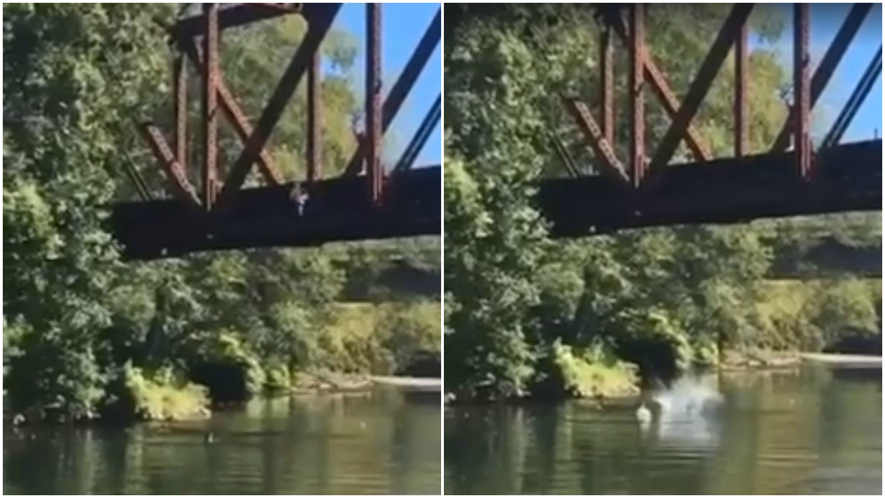 Fawley video of boy tossed off bridge