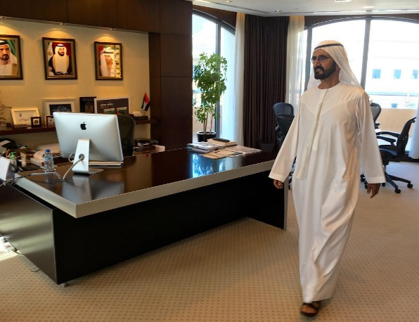 United Arab Emirates leader Sheikh Mohammed Bin al-Maktoum sacked nine government staff members who failed to show up to work