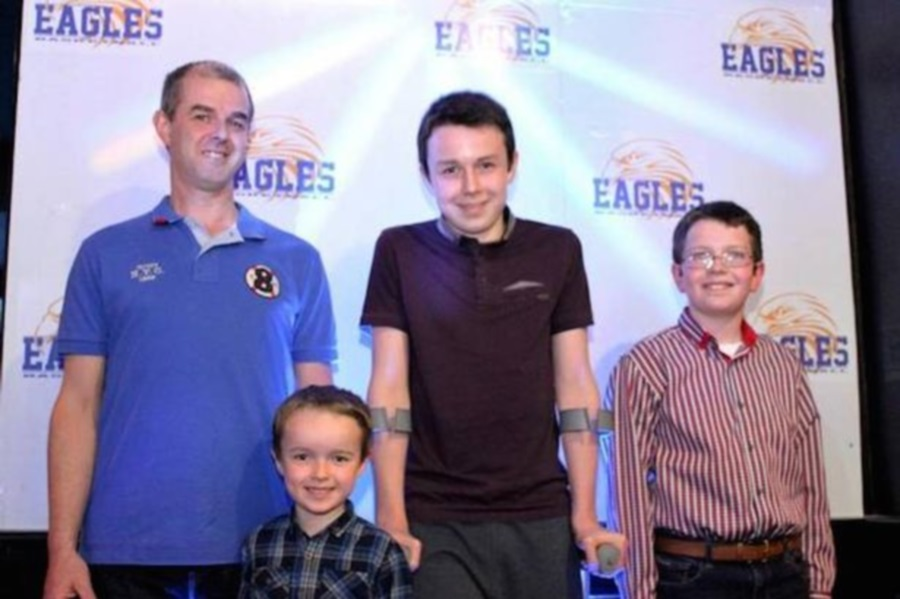 Alan Hawe and family