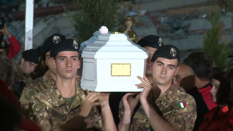 Funerals held for some of the victims of the devastating Italy earthquake