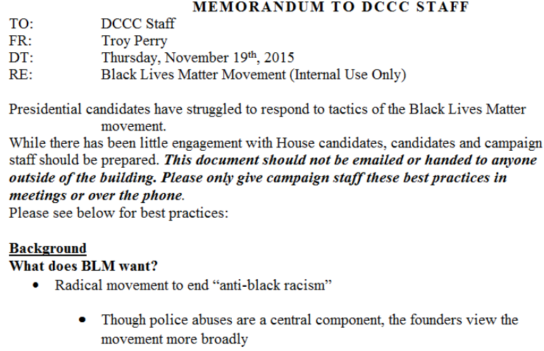 Leaked DCCC memo